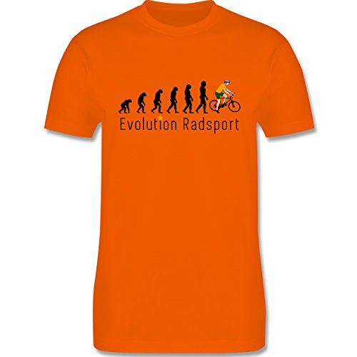 Evolution - Radsport Evolution - Herren Premium T-Shirt Orange