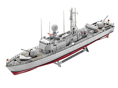 Revell Modellbausatz Schiff 1:144 - Fast Attack Craft Albatros Class 143 im Maßstab 1:144, Level 4, originalgetreue Nachbildung mit vielen Details, 05148