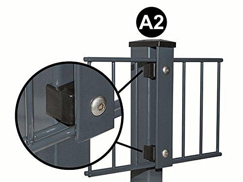 A2 Alu Natur Pfostenkappe I Mit Überstand für 60×40 Zaunpfosten I Doppelstab-Mattenzaun I Gitter-Zaun I Abdeckkappe I Pfostenabdeckung