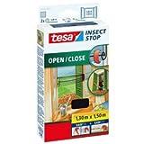 tesa 5 x Fliegengitter Insect Stop 1,5x1,3m zum Öffnen und Schließen anthrazit