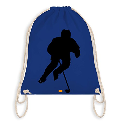 Eishockey - Eishockey Spieler - Unisize - Royalblau - WM110 - Turnbeutel & Gym Bag