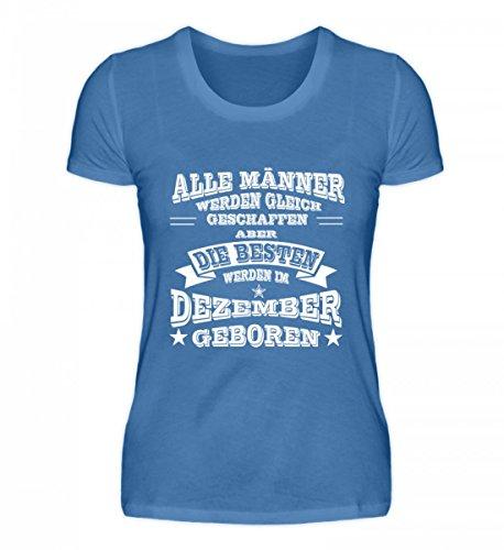 Shirtee Signore Di Alta Qualità Premiumshirt - Sternzeichen - Uomini Di Dicembre Blu Turchese