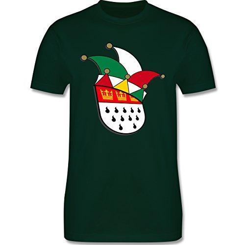 Karneval & Fasching - Köln Wappen Narrenkappe - Herren Premium T-Shirt Dunkelgrün