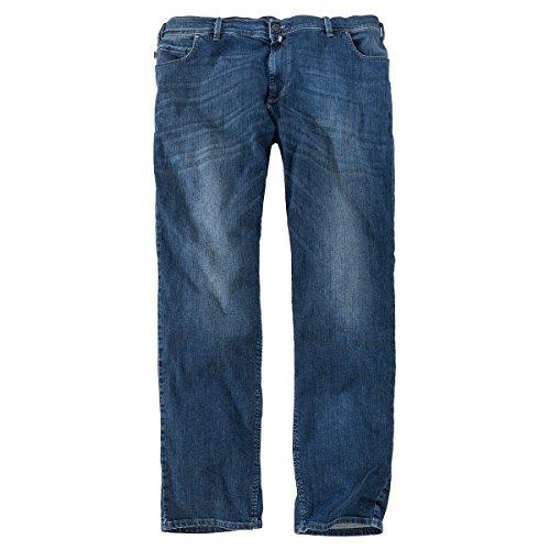 Pionier Jeans Peter denimblau Used Waschung Übergröße Blau