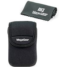 MegaGear ''Ultra Light'' Neoprene Bolsa de la Cámara con Mosquetón para Panasonic ZS60, DMC-TZ80 Cámara Digital (Negro)