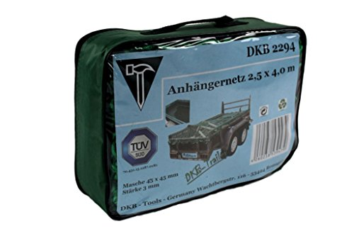 DKB Anhängernetz 2,5 x 4,0 m Ladungssicherung TÜV geprüft Maschenweite 45 mm