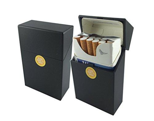 Offre Lagiwa - Etui à paquet de 20 cigarettes couleur au choix avec 1 cadeau bonus (Noir)