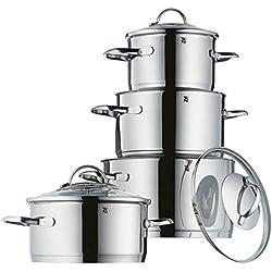 WMF 720646380Provence Plus Cromargan Lot de Pots, Argent, 4pièces