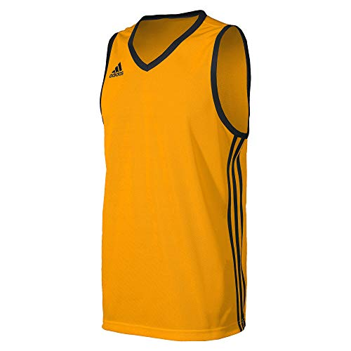 adidas Jungen Commander Jersey-Gold Baskettball-Trikot, Cogold/Black, 116 -