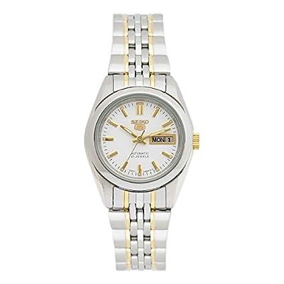 Seiko SYMA35K1 - Reloj con correa de acero para mujer, color blanco / gris