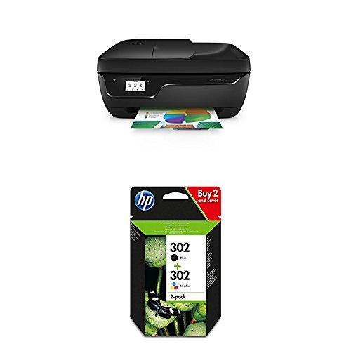 Preisvergleich Produktbild HP Officejet 3831 Multifunktionsdrucker Schwarz + HP 302 Multipack