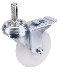 Draper 65506 100 mm, diamètre boulon de fixation pour roulette en Nylon