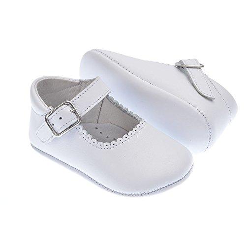 Indice 1428 Chaussures à bride en cuir de qualité supérieure pour bébé Rouge - blanc