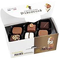 Assortiment de chocolats noir, lait, blanc praliné Chevaliers d'Argouges 185g