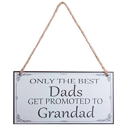 BESTOYARD Väter Tag Geschenk Wall Plaque Zeichen Nur die Besten Väter Erhalten zu Grandad für Väter Day Geburtstagsgeschenk gefördert