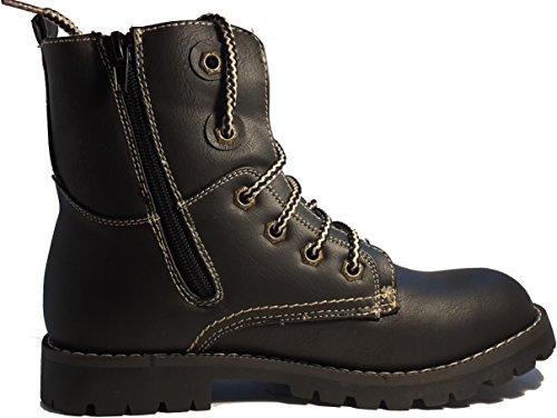 Scarpe invernali, stivali invernali, scarpe da donna, modello 1331400112013445, nero e marrone, modelli e numeri differenti. Nero.