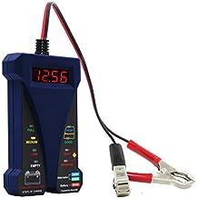 MOTOPOWER MP0514B 12 V Digital comprobador de batería voltímetro y sistema de carga analizador con pantalla LCD e indicador LED – Versión azul