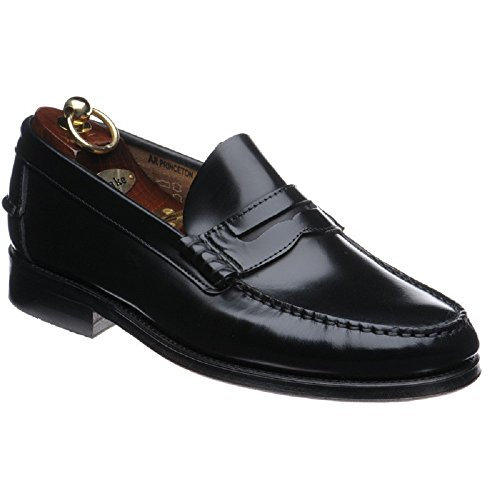 loake-princeton-mens-leather-moccasin-shoes-in-black-and-burgundy-9-uk-black