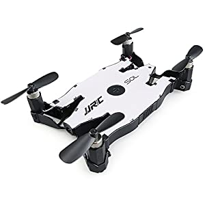 Mini Ultra-Thin Foldable RC Aircraft, JJRC H49 2.4G Gyro WIFI FPV RC Helicopter Drone with 720P HD Camera - Auto-Folding Crankshaft - Real-Time Transmission - Altitude Hold - Beauty Mode - Night Navigation LED from YuStar