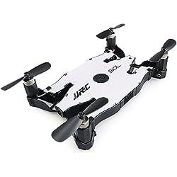 JJRC H49 Mini RC Drone Pocket Drone SOL Ultrathin plegable 4 AXIS 720P WIFI / 2.4G teledirigido en modo de control remoto-Blanco
