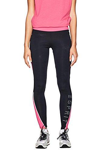 ESPRIT Sports Damen 018EI1B006-E-Dry Active Sport Leggings, Schwarz (Black 001), 38 (Herstellergröße: M)
