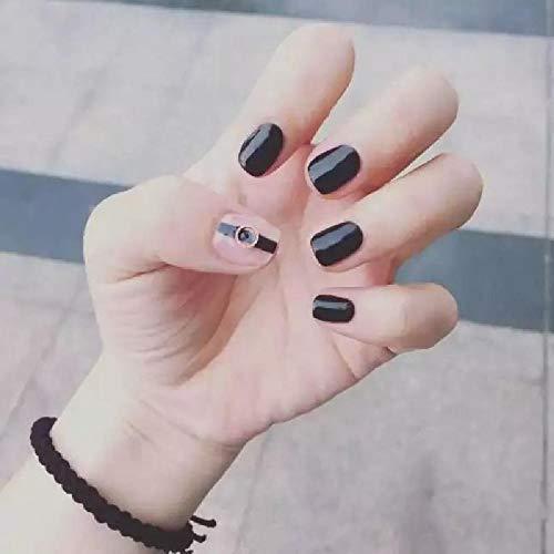 Fingernägel Schwarzgold Ring Hand Rüstung Kurze Nail Art Stück Fertig