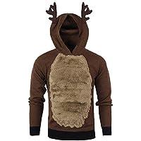 Herren Weihnachten Hoody Rentier Hooded Christmas Fur Bluse Top Elch Stil Kapuzenpullover Sweatjacke Pullover... preisvergleich bei billige-tabletten.eu