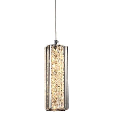 Yuyuan Light Post-modernen Kristall LED-Kronleuchter, Restaurant Bar Schlafzimmer Einzel-Kopf Beleuchtung dekorative Hängelampe, Nordic einfache Stil Glas Luxus Kunst Kronleuchter, 5.4W