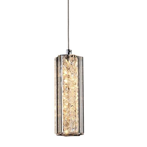 DEI QI Post-modernen Kristall LED-Kronleuchter, Restaurant Bar Schlafzimmer Einzel-Kopf Beleuchtung dekorative Hängelampe, Nordic einfache Stil Glas Luxus Kunst Kronleuchter, 5.4W - Einzel-post-zubehör