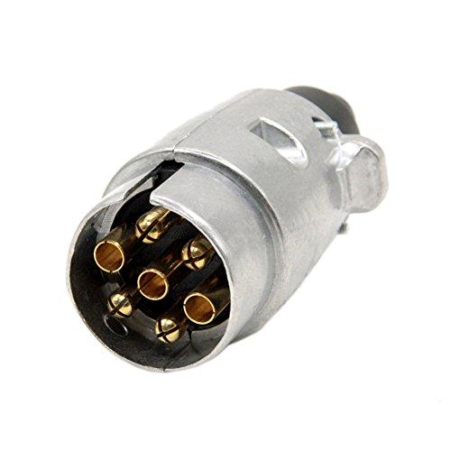 SmartSpec- Conector de 7 Pines para Remolque, 7 Polos, Conector de cableado para Remolque de Remolque
