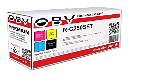 Preisvergleich Produktbild 4x kompatibler Toner ersetzt Ricoh SP-C250 schwarz cyan magenta gelb