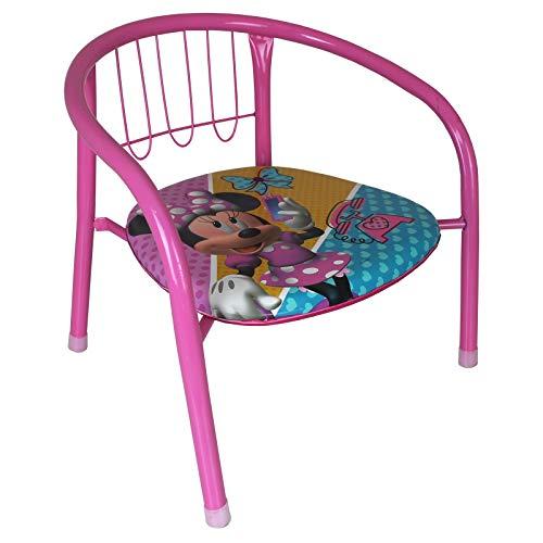 Arditex Kinderstuhl - Stuhl - Metallstuhl Kinder mit Disney Motivauswahl (Minni Mouse)