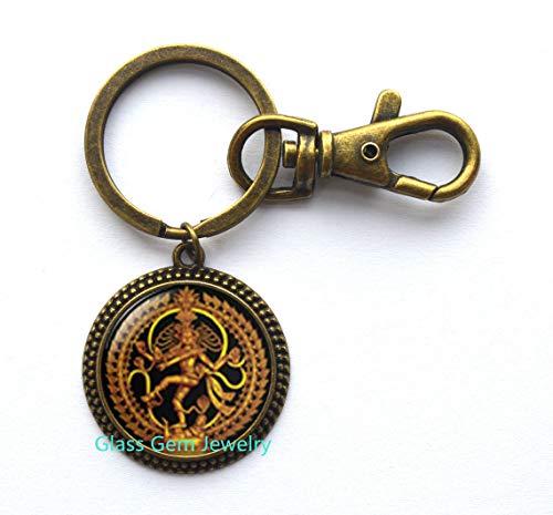 Llavero Nataraja con diseño de Shiva bailando