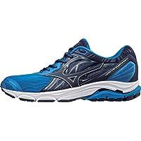 MIZUNO J1GC184417 Wave Inspire 14 Men's Running Shoes, 9.5 UK, Directoire Blue/Blue Depths/Safety Yellow