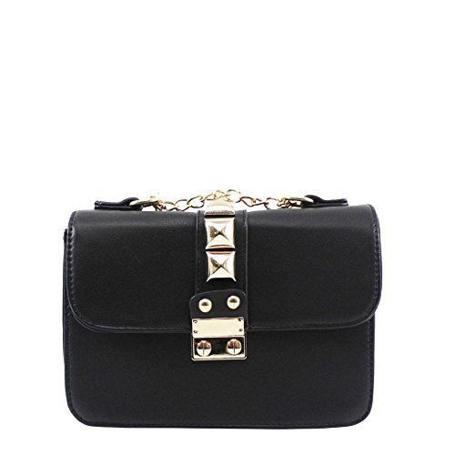 Haute For Diva S Ladies New Chain Band Big Plug Decorazione Moda Tracolla A Spalla - Verde Scuro, Piccolo Nero