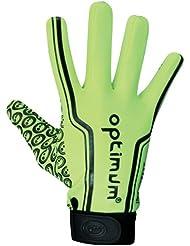 Optimum Velocity - Guantes de receptor para fútbol americano, color amarillo, talla XL
