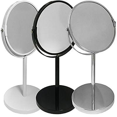TheBigShip® Round Swivel Table Bathroom Shaving Make up Mirror - low-cost UK light shop.