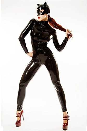 SADWF Spiel-Uniform PVC Kunstleder Catwoman Kostüm Catsuit, (Catwoman Kostüm Kostüme Uk)