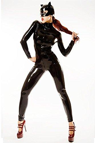 PVC Kunstleder Catwoman Kostüm Catsuit, XXL ()