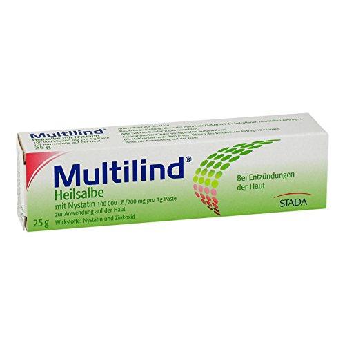 Multilind Heilsalbe mit Nystatin, 25 g Paste