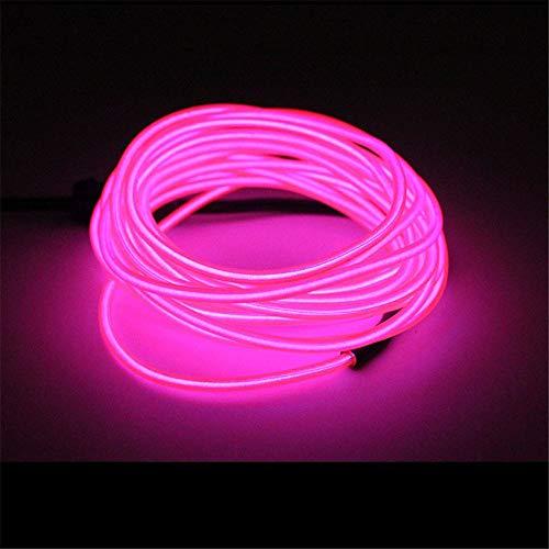 TJW EL Draht Licht mit Treiber, 5 m tragbares Neonlicht, 4 Modi, leuchtende Stroboskop-Lichter für Halloween, Weihnachten, Party Rose Halloween-tanz