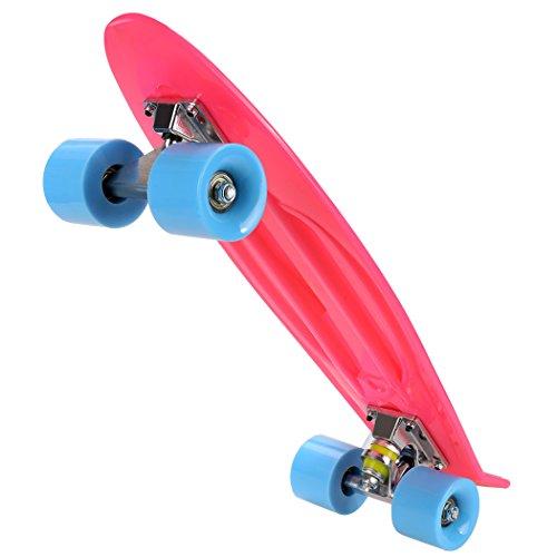 Ancheer-Mini-Cruiser-Skateboard Eine große Vielfalt von Farbe der Platten und Rädern 22 Zoll Kunststoff-Board im Retro-Stil