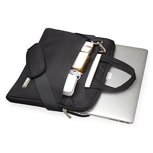 Qishare multifonctionnel portatif mince ordinateur portable sac à bandoulière porte-documents ordinateur portable mallette de poche ultrabook netbook ...