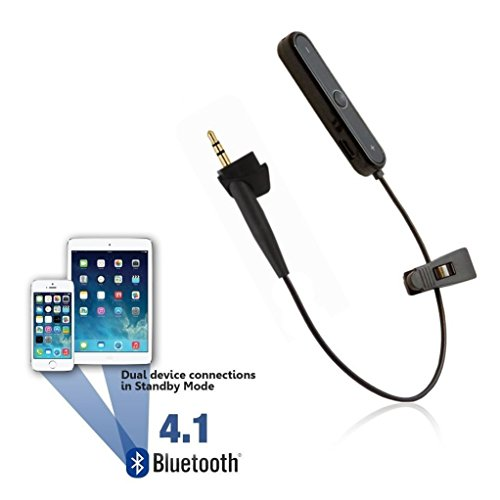 Bluetooth Adapter for Bose Around-Ear 2 / AE2 / AE2i & AE2w Headphones - Wireless Receiver Cable Earphones