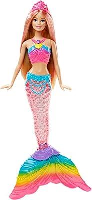 Barbie DHC40 - Rainbow Lights sjöjungfrudocka med stjärt som lyser upp!