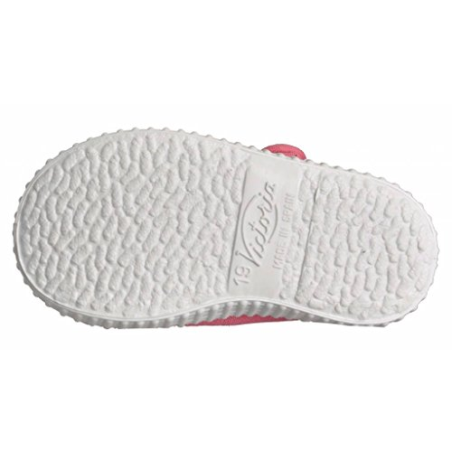 Victoria Mercedes Velcro Lona Tintada, Baskets Basses Mixte Enfant Rose
