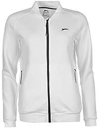 Slazenger Damen Baseline Tennis Sportjacke Trainingsjacke Jacke Taschen