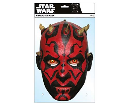 empireposter Star Wars - Darth Maul - Papp Maske aus hochwertigem Glanzkarton mit Augenlöchern, Gummiband - Größe ca. 30x21 cm - Pappmaske, Prominentenmaske, Funmaske, - Darth Maul Kostüm Maske