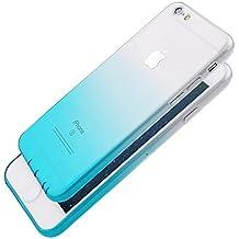Pridot Gradient Colour TPU Funda Case for iPhone 6s / 6 Ultra Thin Carcasa Anti Slip Soft Bumper Scratch Resistant Back Cover Crystal Clear Flexible Silicone Case - Blue Sky