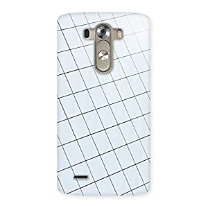 Neo World Glass Square Wall Back Case Cover for LG G3